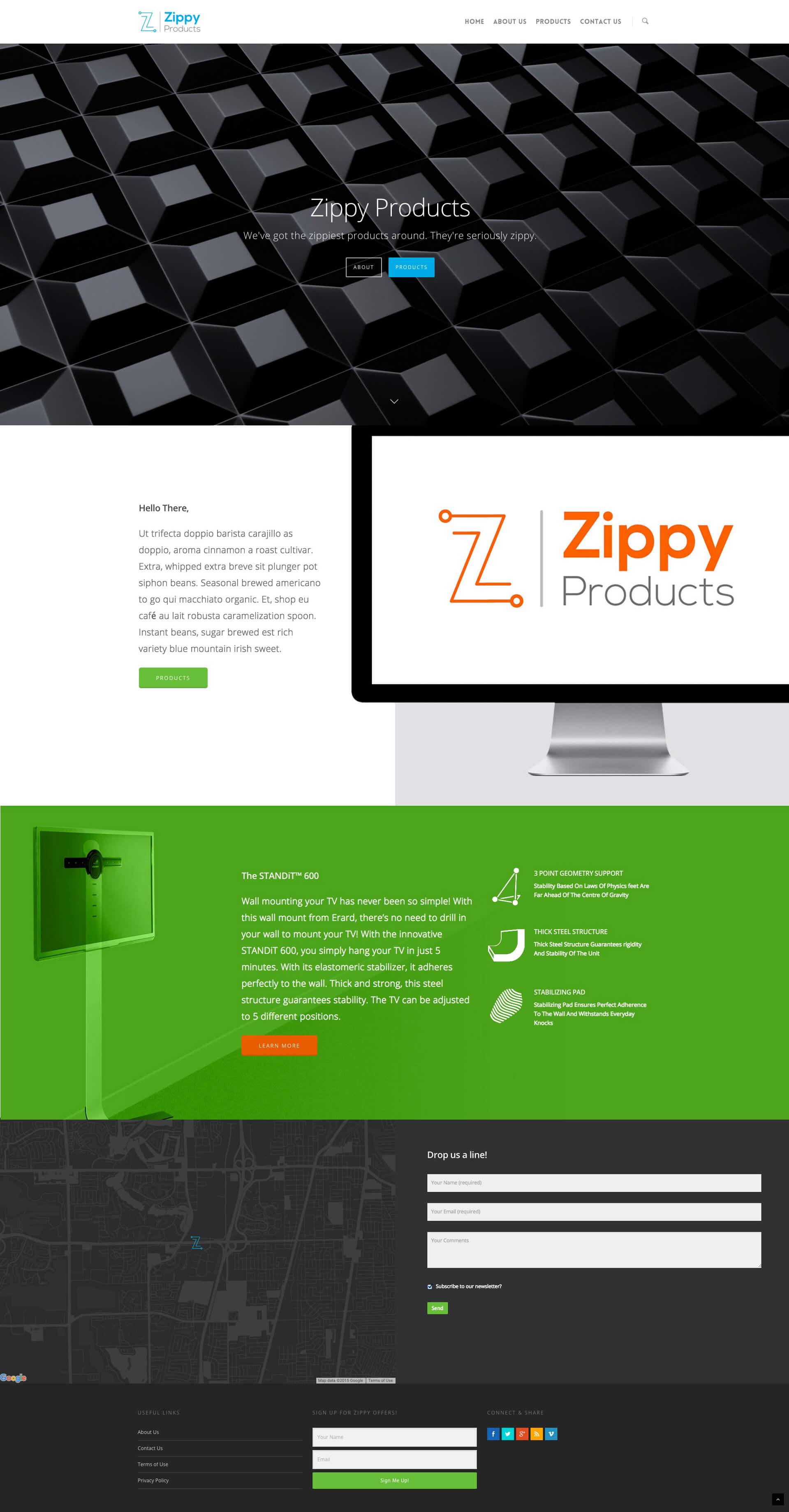 Zippy Products Website design